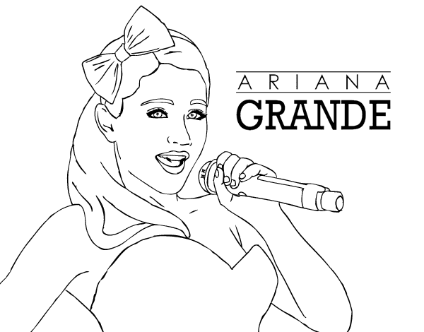 Ariana Grande Coloring Pages Online Coloring Pages