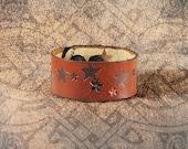 Leather Cuff - The Dusk Lit Stars Cuff
