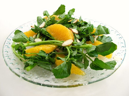 watercress and tangelo salad