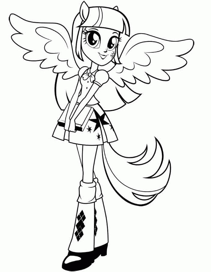 Equestria Girl Coloring Pages To Print At Getdrawingscom Free For