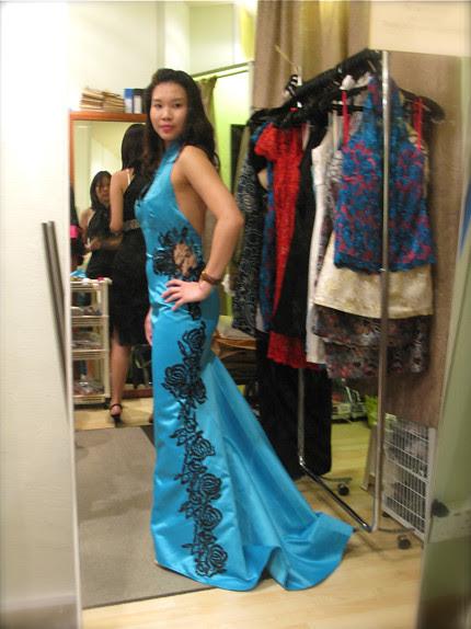 Turquoise Cheongsam for Janice