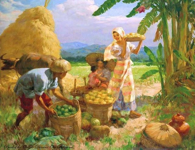 Fernando Amorsolo Family Gathering Fruit