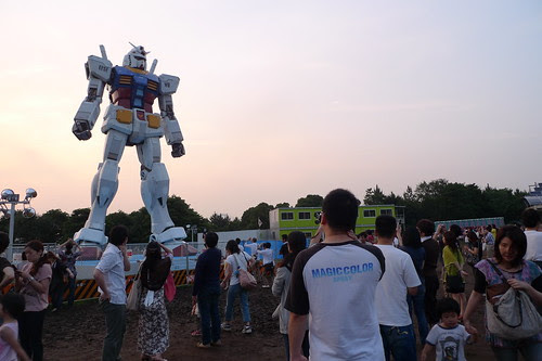 The Gundam statue and its legion of fans