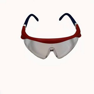 Bouton 7200 Ufo Saturn Safety Glasses Red White Blue Frames W