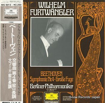 FURTWANGLER, WILHELM beethoven; symphonie nr.4 / grobe fuge