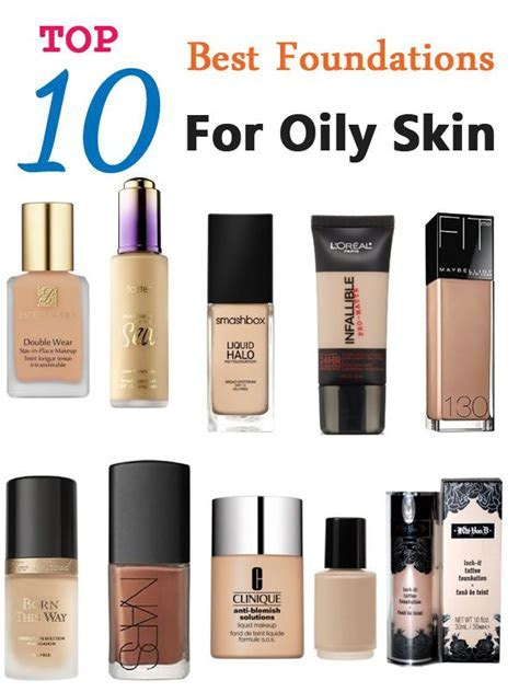 Top 10 Best Foundations For Oily Skin   Makeup Tutorials
