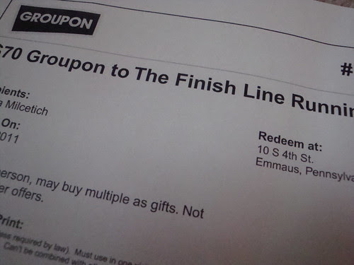 Groupon to the running store