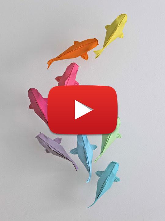 Daily Origami: 051 - Carp - YouTube | 725x540