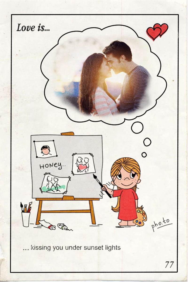 Loving Him Love Is Ecard Photo Frame With A Love Saying