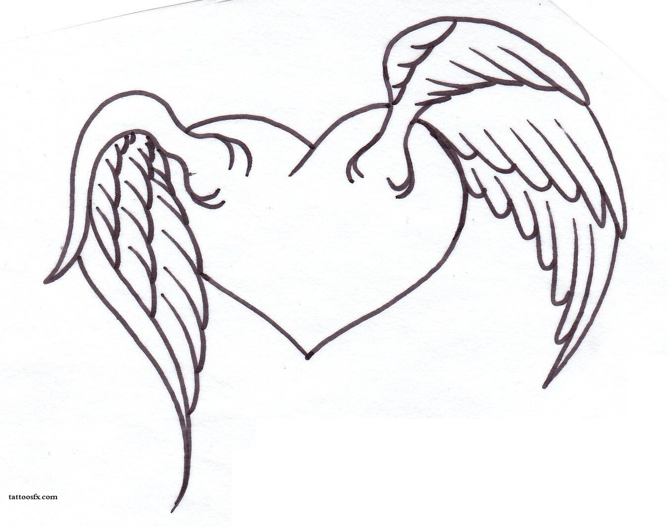 Simple Angel Wings Drawing At Getdrawingscom Free For Personal