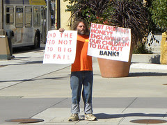 Protest against the Federal Reserve during eve...