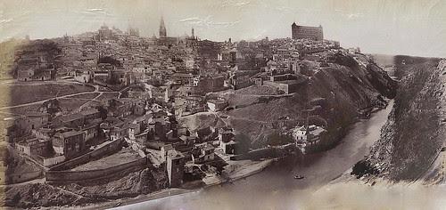 Vista panorámica de Toledo en 1883. Fotografía de Alfred Dismorr montada por cortesía de José María Moreno