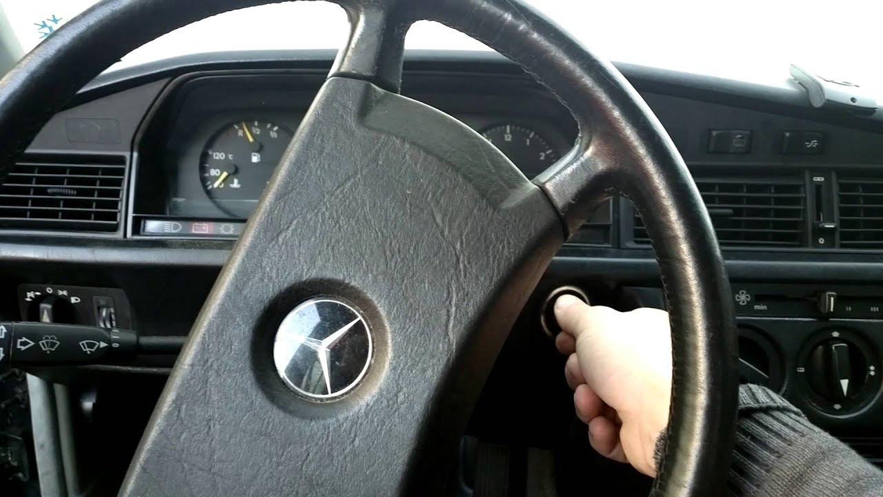 Mercedes w201 190d 2.5 diesel cold start - YouTube