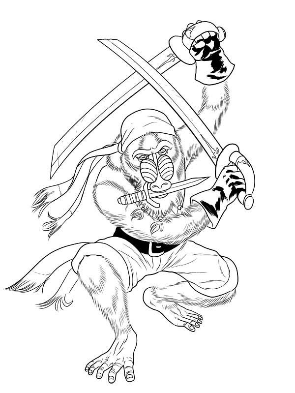 mandrill pirate inks