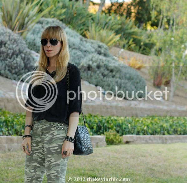 Brandy Melville blouse, Xhilaration camouflage jeans, Steve Madden Grettta heels, Los Angeles fashion blog