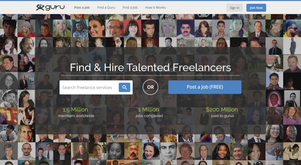 Freelance Website - guru.com