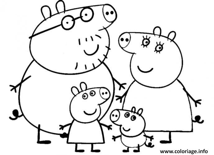 Coloriages Peppa Pig Coloriage