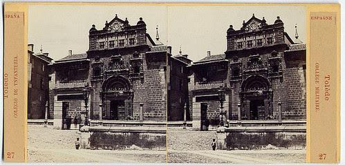 Fotografía estereoscópica de Toledo. Museo de Santa Cruz