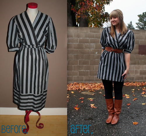 Striped dress Restyle.