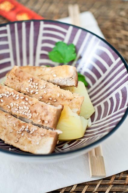 Tofu glassato