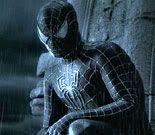 Spider-Man enshrouded in the black alien symbiote suit