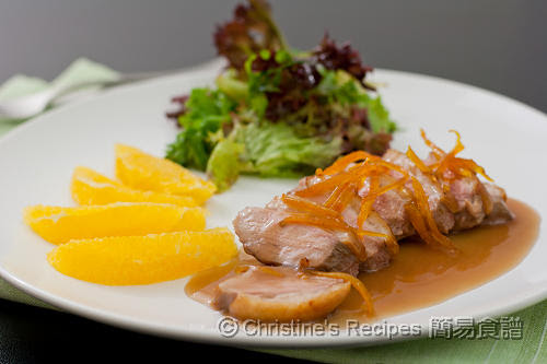 鴨胸配香橙汁  Duck with Orange Sauce02