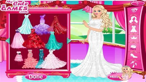 Barbie Wedding Dress Up Game   50 Wedding Gowns for Barbie