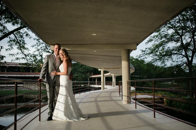 Bride and Groom Portraits at The Hyatt Lodge at McDonald's Campus, Oak Brook Illinois, Grand Oaks Pavillion Wedding. By Mindy Joy Photography