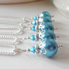 Aquamarine Pearl Earrings Malibu Bridesmaid Jewelry Aqua