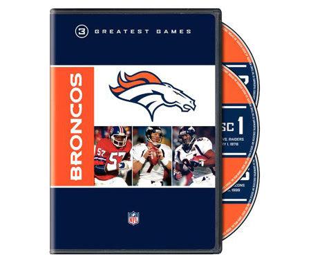 NFL Greatest Games Series: Denver Broncos  2Disc DVD Set — QVC.com