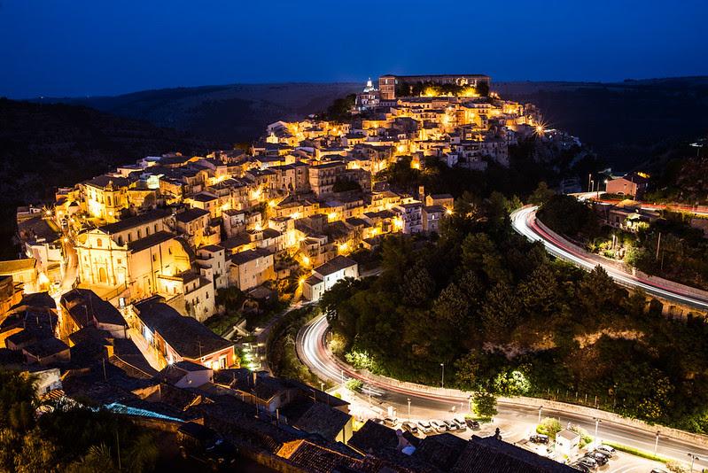 Ragusa Ibla, de noche