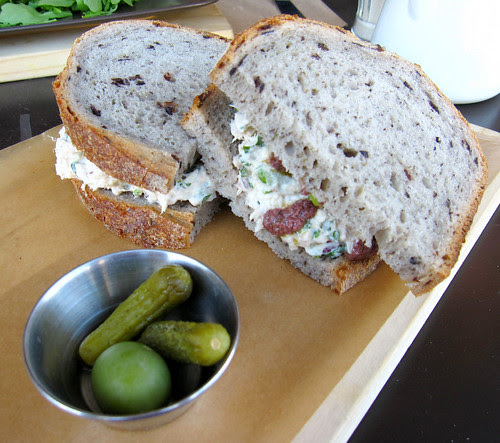 tuna sandwich on olive bread, Food Lab