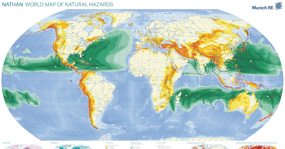 World Map Of Natural Hazards Ecoclimax - Natural world map