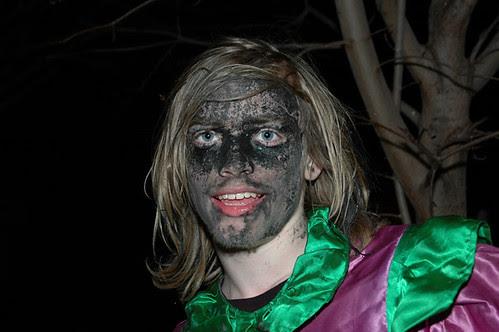 wench in blackface black facepaint face paint web