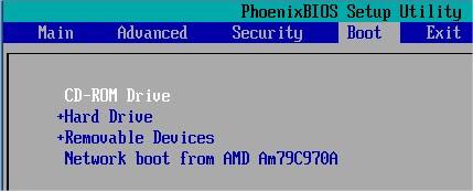 Configure a BIOS