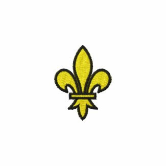Fleur De Lis Embroidered Track Jacket zazzle_embroideredshirt