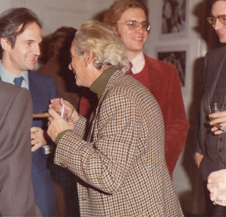 McBride with Truffaut, Fuller and McCarthy, 1975