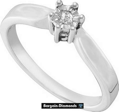 diamond eternal love promise engagement ring .05 carats