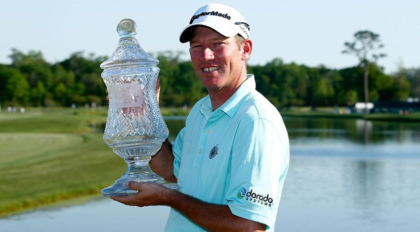 Jim Herman with Houston Open trophy