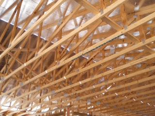House Roof Plywood/OSB Covering Inside View