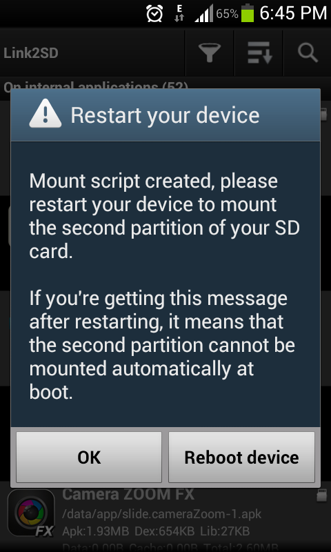 increase-internal memory-restart device