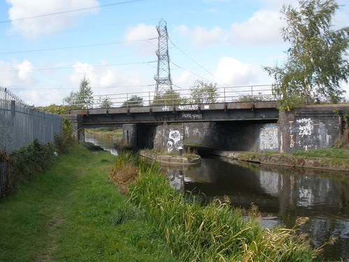 Golds Hill Railway Bridge & Gauging Point, Walsall, Tame Valley Canal
