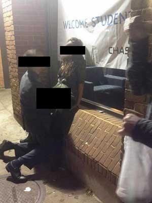 Foto viral de duas pessoas que aparecem em ato de sexo em público perto do campus da Universidade de Ohio (Foto: Reprodução/ Twitter/ VY_VANCE)