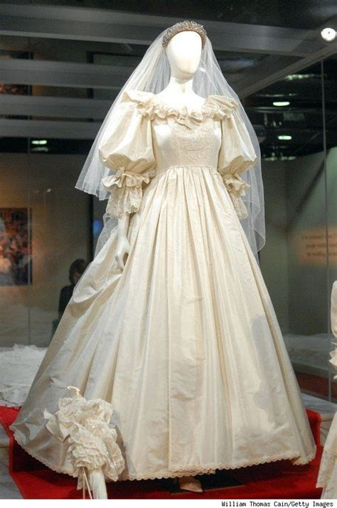 Diana's wedding dress was made from three different types
