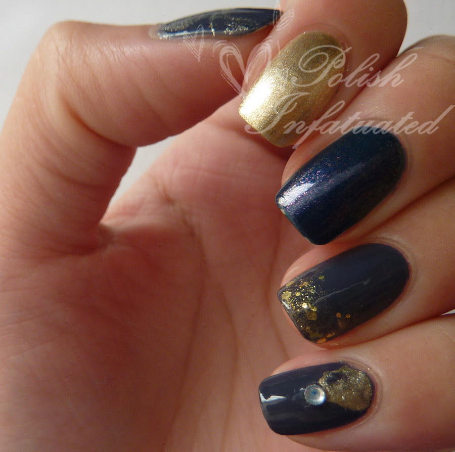 dusty blue and gold skittle
