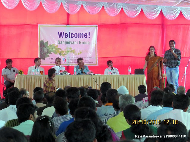 Ms. Pallavi Bapat, Marketing Manager, Snjeevani Developers & Mr. Ashok Bhosale, Home Owner, Shares His Experience - Handing Over Ceremony of Sanjeevani Developers' Sangam at Sus on Sunday 20th October 2013