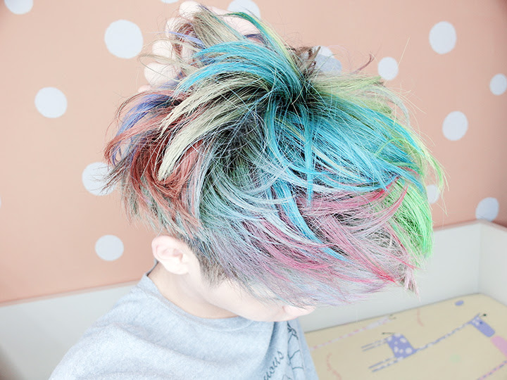 typicalben rainbow hair