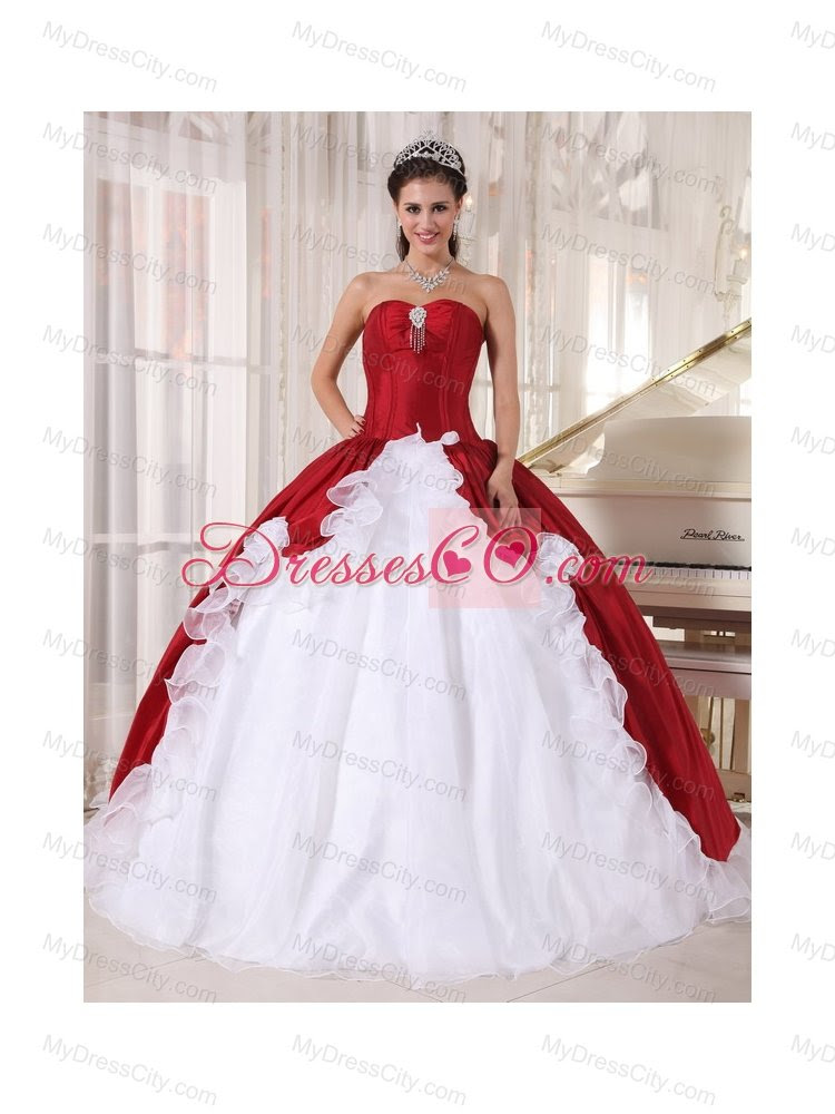 Gown Red And White