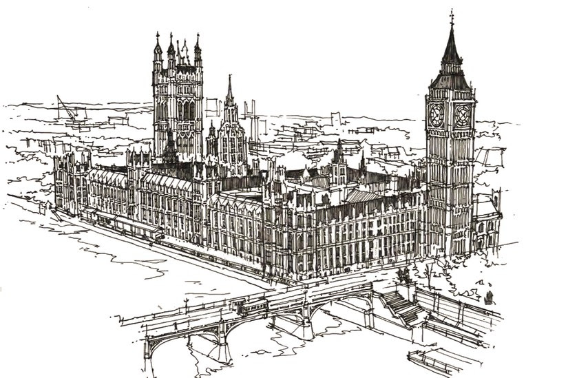 Art Therapy Coloring Page London Westminster And Big Ben 12