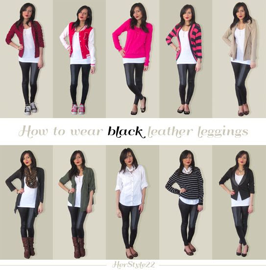 How To Wear Leather Leggings | Lookbook: How to wear black leather leggings 10 outfit ideas ...